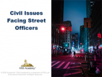 Civil Issues Facing Street Officers (TCOLE)