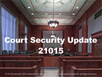 Court Security Specialist Update #21015 (TCOLE) Package